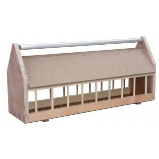 Wooden Feeder with Metal Roll Bar 100cm