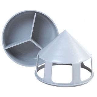 Grey Grit Feeder with compartment