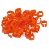 Orange 5mm Numbered Rings