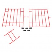 Set of Red Plastic Fronts