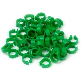Dark Green Numbered Rings 8mm