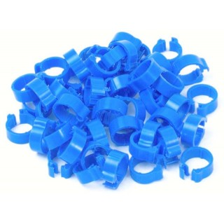 Blue Numbered 5mm Pigeon Rings