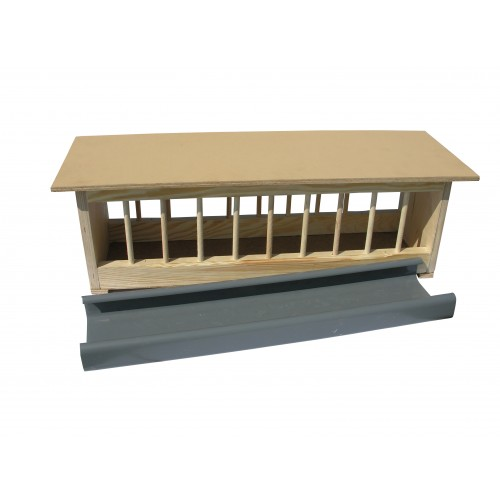 Wooden Feeder Antibacterial Trough 75cm