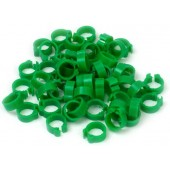 Dark Green Numbered Rings 8mm