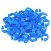 Blue Numbered 8mm Pigeon Rings