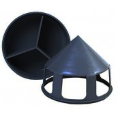 Black Grit Feeder with Compartment